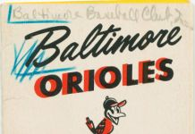 Gunther Beer 1954 Orioles Schedule