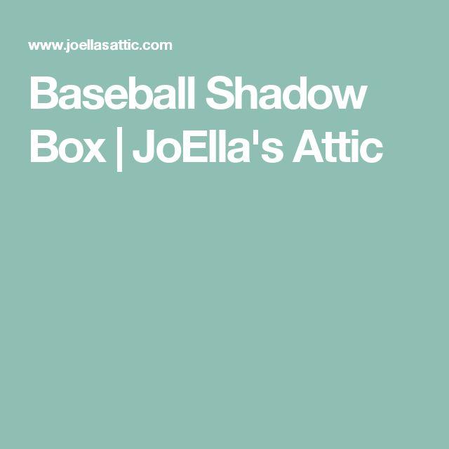 Baseball Shadow Box | JoElla's Attic