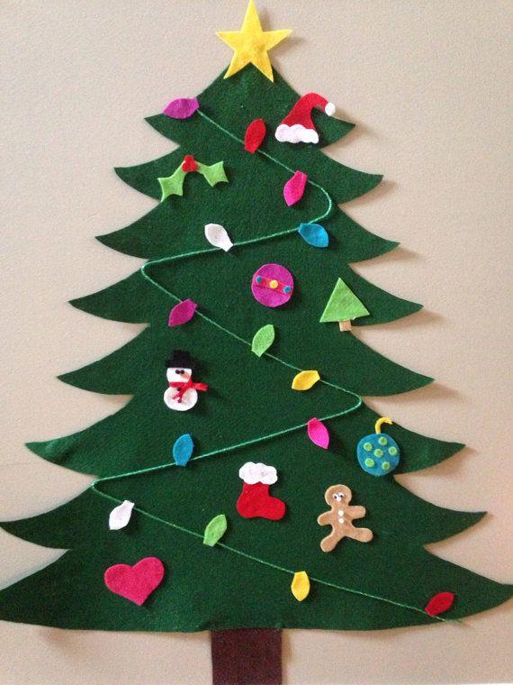 Felt christmas tree with extra set of ornaments