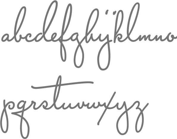 nice cursive font for inner forearm tattoos: 'love all' and 'fear not'