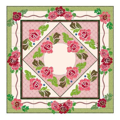Morning Glory Designs: More Pictures of the Roses Around Bed Runner