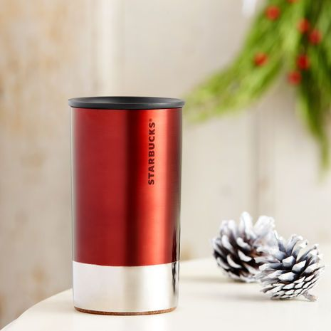 Stainless Steel At Home Holiday Mug Red 8 Fl Oz 16 95