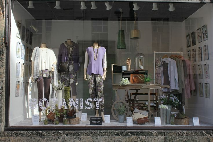 The Botanist - spring 2015 windows. Showcasing here the beautiful subtle floral Masai new season collection