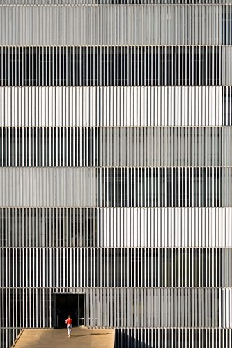 Metal stripes - would look great on my big wall in living room...: Grey Building, Architecture Facades, Oscars Niemeyer, Textures Patterns, Architects Oscars, Stripe Pattern, Feature Walls, Arches Facades, Building Texture