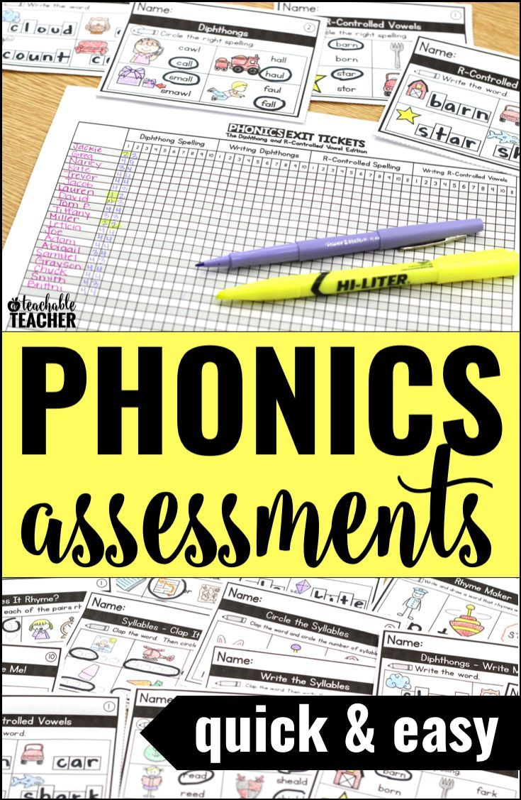 I love using exit tickets as a phonics assessment for kindergarten and first grade phonics!  The recording sheets are great for phonics data tracking too.