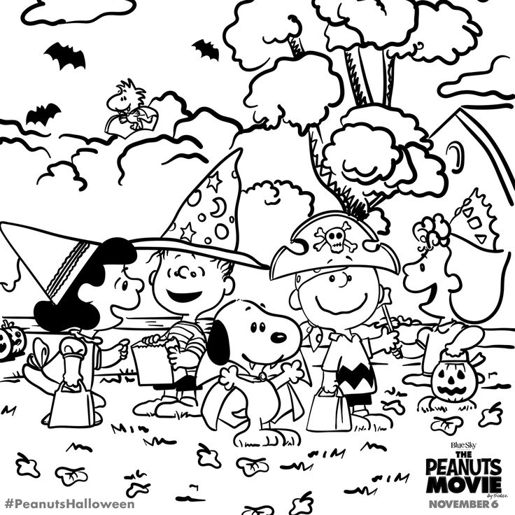 halloween peanuts coloring pages - photo#3