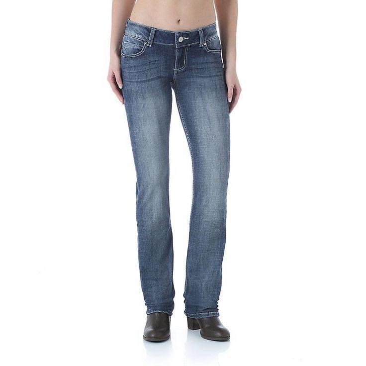 Wrangler Women's Straight Leg Jeans (Size: 11x36) Blue