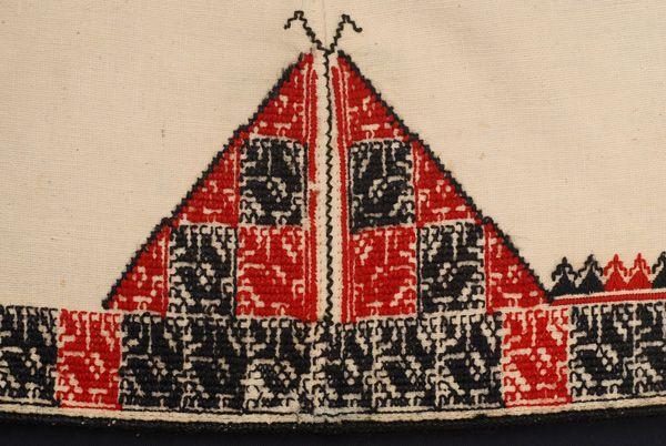 Greece, Macedonia, Florina, tunic, cotton, silk thread spangles, beads, wool thread, 20th c