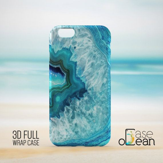 Blue mineral stone texture phone case design.  High quality glossy color full wrap phone case for iPhone and Samsung Galaxy phones!  Great to refresh