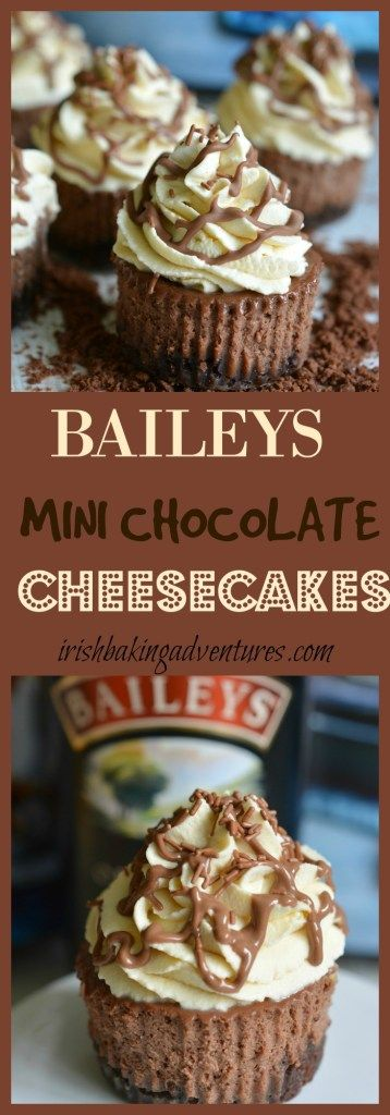 try this Mini Baileys Cheesecake with a bourbon biscuit base, Baileys cheesecake filling & Baileys whipped cream to top things off. BAILEY HEAVEN