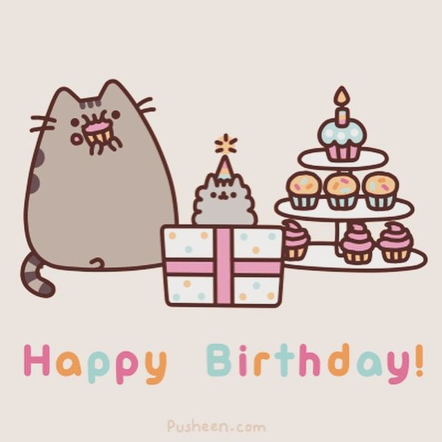 Pusheen! Happy Birthday!