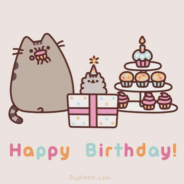 Pusheen! Happy Birthday!