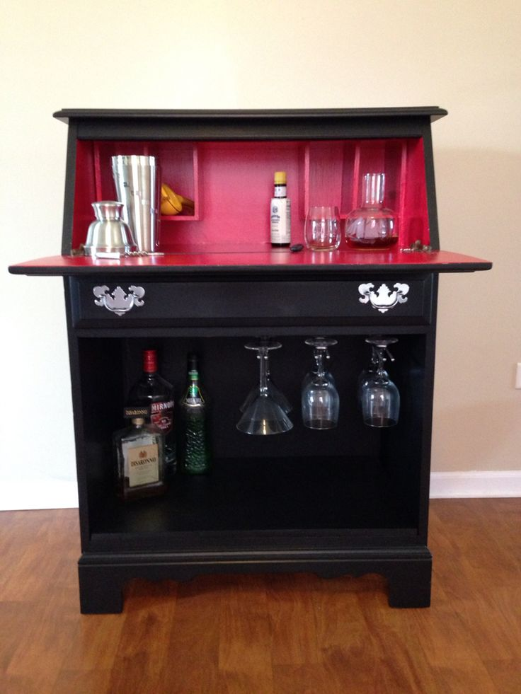 Upcycled Bar - from an old secretary desk!!