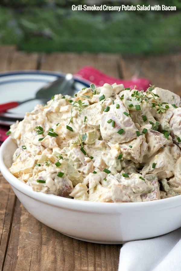 Grill-Smoked Creamy Smoked Potato Salad with Bacon - BoulderLocavore