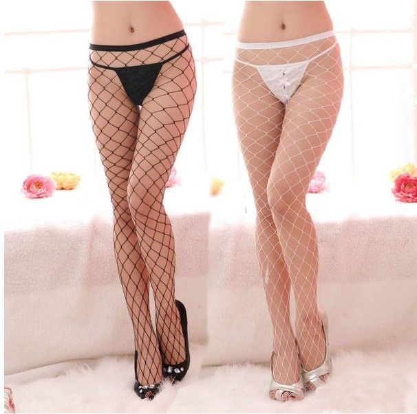 Women Sexy Fishnet Stockings Fishing Net Large Elastic Pantyhose Ladies Mesh Stretch Lingerie Tights Big Mesh