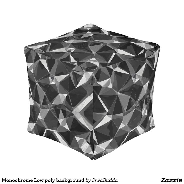 Monochrome Low poly background Cube Pouf