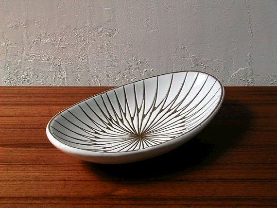 Mari Simmulson for Upsala Ekeby Oval Plate by MISTLETOKA on Etsy, $148.50