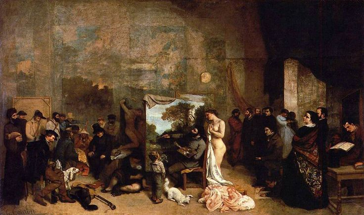 The Studio of the Painter by Gustave Courbet