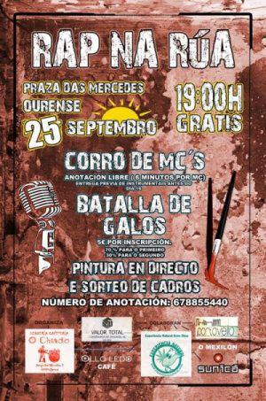 Rap na Rúa en Praza das Mercedes, Ourense