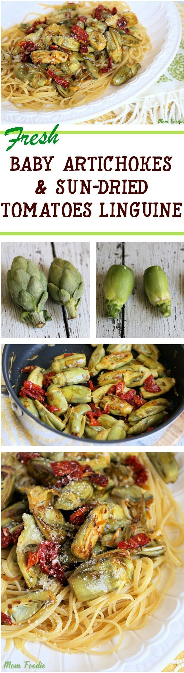 Baby Artichokes & Sundried Tomatoes over Linguini