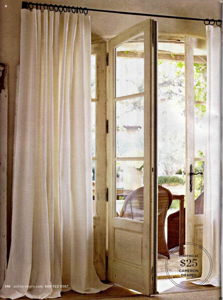 Robin Flies South...: EZ Pottery Barn Knock Off Curtains
