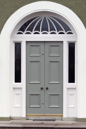 Modern Country Style: Colour Study: Beautiful Farrow and Ball Front Doors... Click through for details.