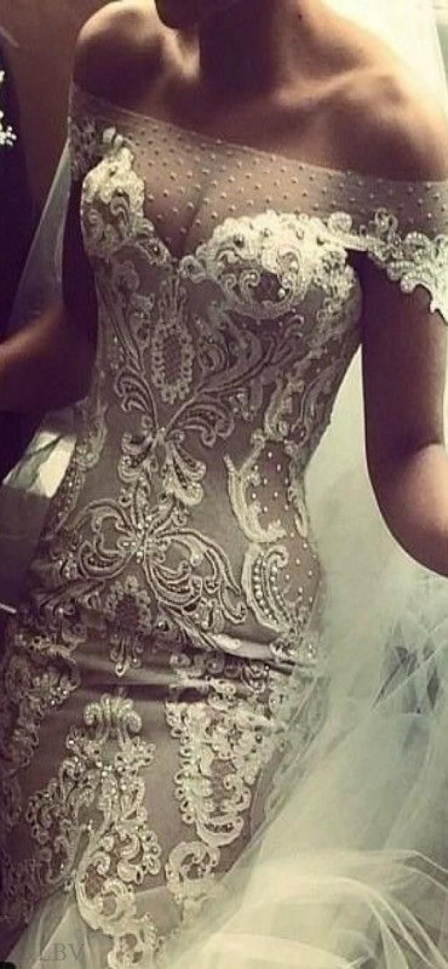 J'Aton Couture Luscious Lace Wedding Dress ...... LOVE THIS!!! SO STUNNING!!
