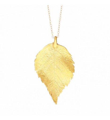 The Sweetest Thing Raspberry Leaf Necklace in 18k Gold