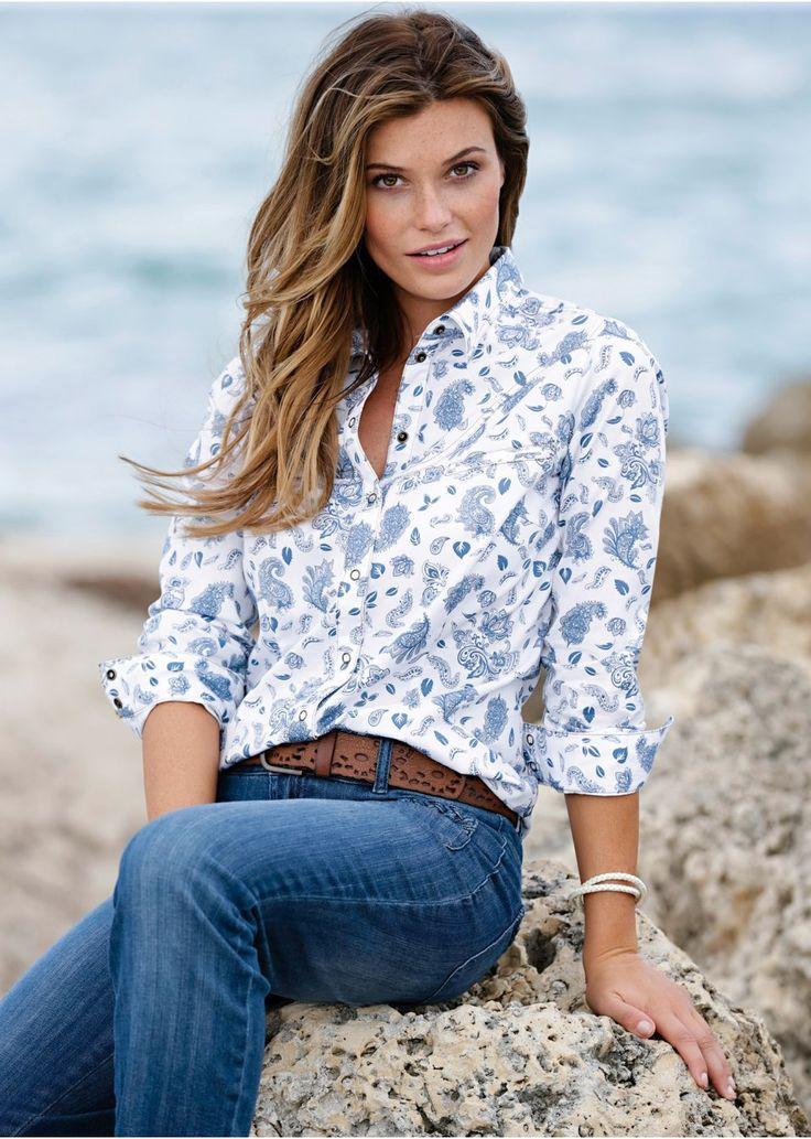 Koszula dżinsowa Długi rękaw • 94.99 zł • bonprix