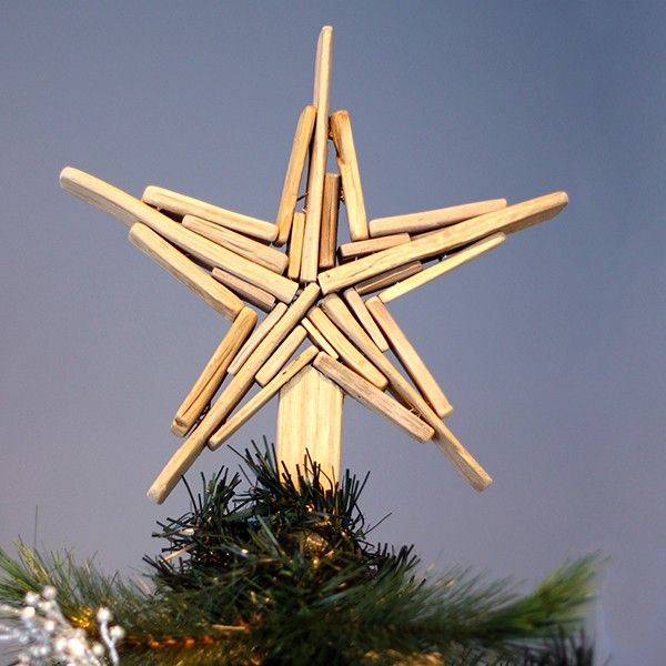 Driftwood Star Ornament Tree Topper  in Hamptons Christmas