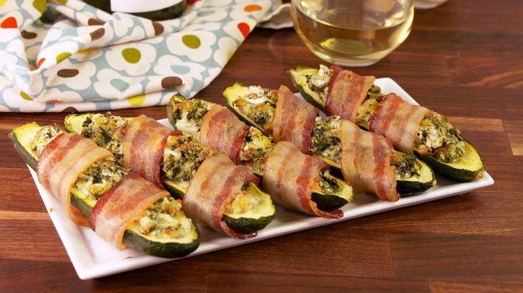 Bacon Wrapped Stuffed Zucchini   - Delish.com
