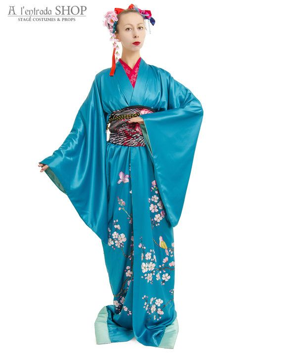 Japanese kimono. Cosplay costume. Japanese dance by AlentradaSHOP