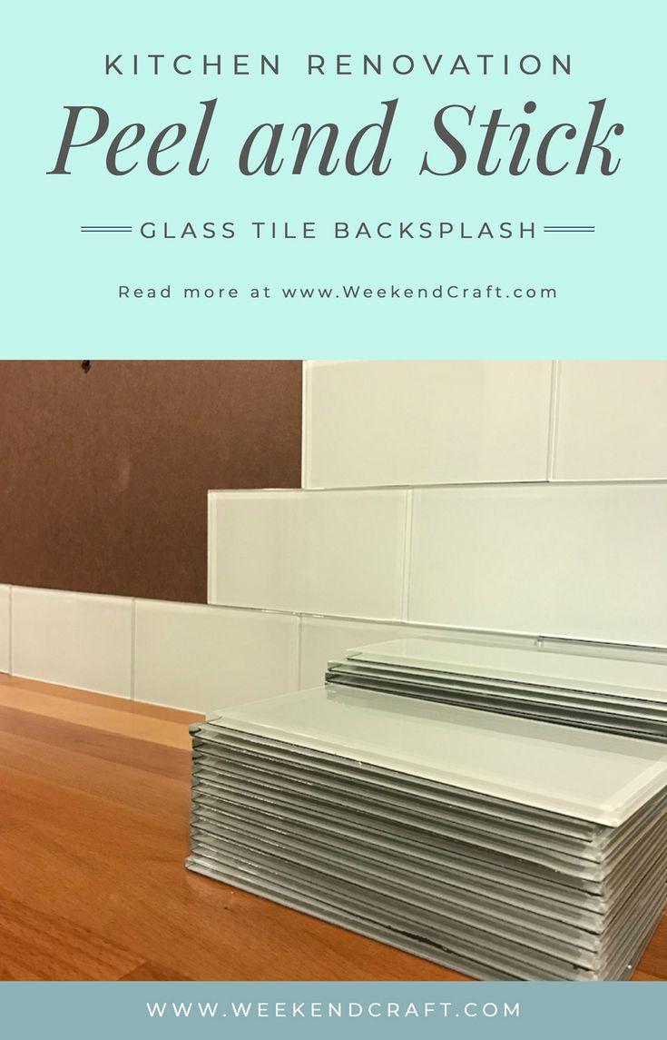 Installing Peel And Stick Glass Tiles Glass Tile Backsplash