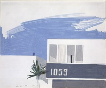 David Hockney, 1059 Balboa Blvd., 1967, crayon on paper