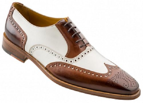 New Men Spectator Shoes, Men brogue wingtip Brown And White Formal Dress Shoes - Dress/Formal
