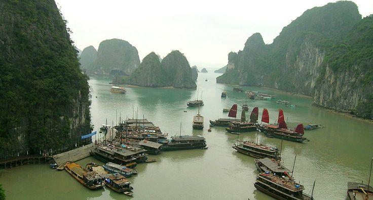 Ha Long Bay. #vietnam #halongbay #travel #tourist #boats