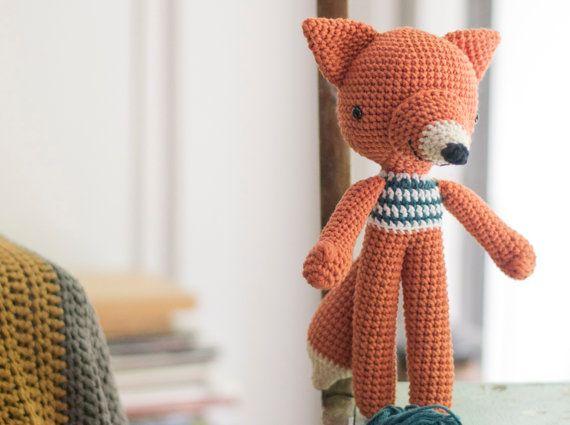 Ganchillo amigurumis Fox patrón. Lucas Fox.
