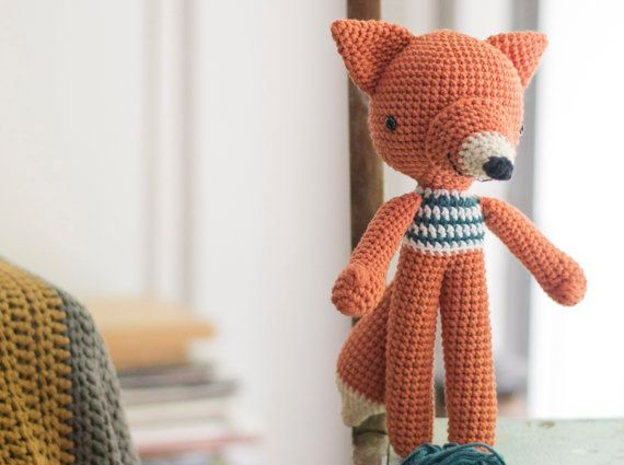 Crochet Amigurumi Fox Pattern. Lucas Fox. by PicaPau on Etsy