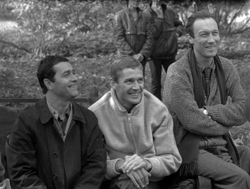 Олег Янковский в перерывах между съемками фильма «Храни меня мой талисман» 1986 год.С Балаяном и Абдуловым.