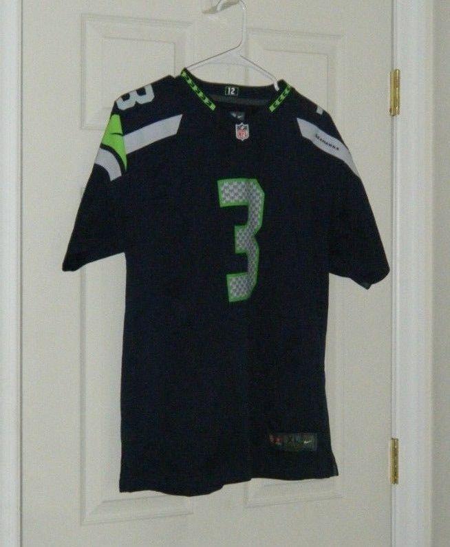 f031bae1bec Russell Wilson NFL Football Jersey Seattle Seahawks Youth Kids XL #3 Nike  Used #Nike #SeattleSeahawks