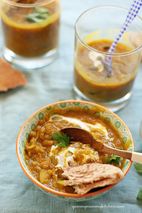 Curried Pumpkin Lentil Soup by yummymummykitchen
