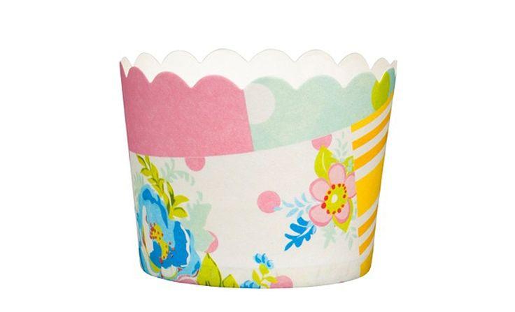 Floral Patchwork Baking Cups - hardtofind.