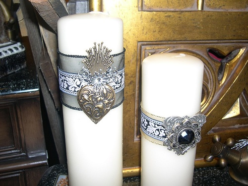 candles with embellishments: Future Crafts, Crafts Projects, Diy Gifts, Crafts Diy