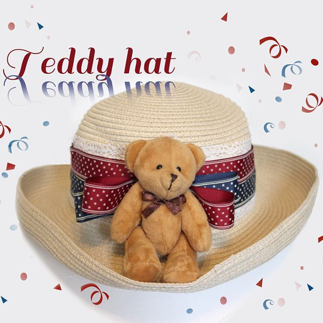 Lovely teddy hats are here! :D www.chiringo.fi  #teddy #teddybear #bearhat #hat #summerhat #lolita #lolitahat #classiclolita #classic_lolita #classiclolitafashion #classiclolitastyle