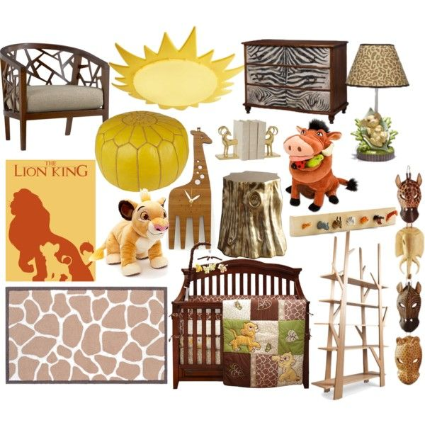 """""""The Lion King nursery"""" by molly-pop on Polyvore"""