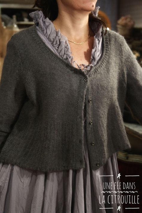 Taupe Cardigan With 2 Buttons