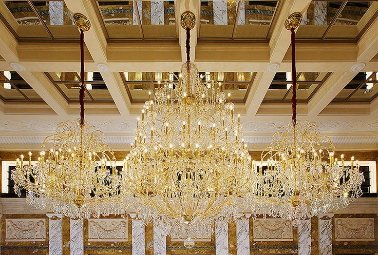 #ISAAC LIGHT 's awesome Chandelier, Hotel Imperial, Vienna