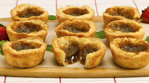 Not-So-Gooey Butter Tarts I use real maple syrup and add just a pinch or so of flour to the mixer