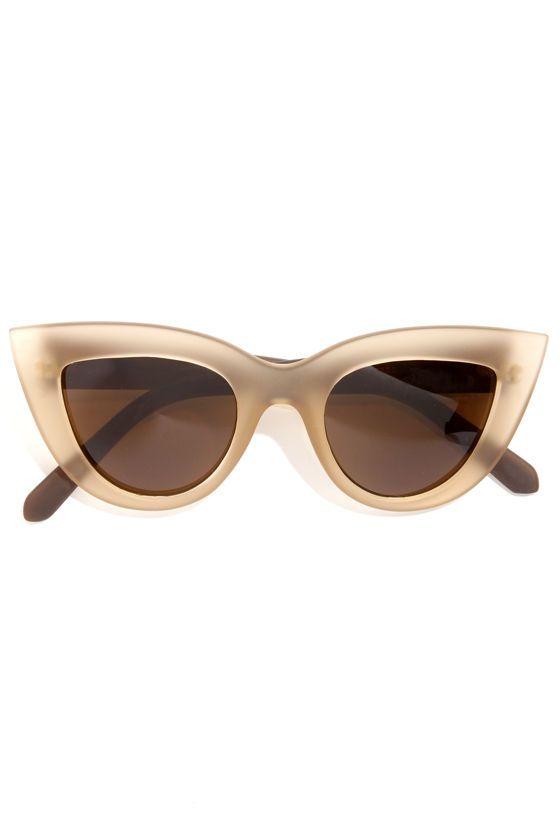 Quay Kitti Coffee Brown Cat Eye Sunglasses at LuLus.com!