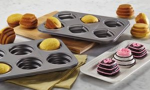 Groupon - Cake Boss Specialty Nonstick Bakeware 2-Piece Mini Stacked Cakelette Pans  in [missing {{location}} value]. Groupon deal price: $29.99